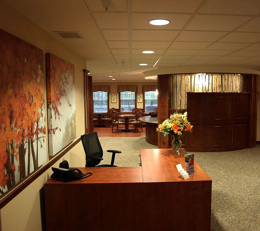 university park reception area
