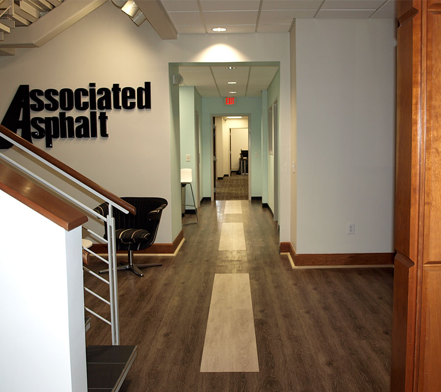 Associated Asphalt lobby dotted line hallway