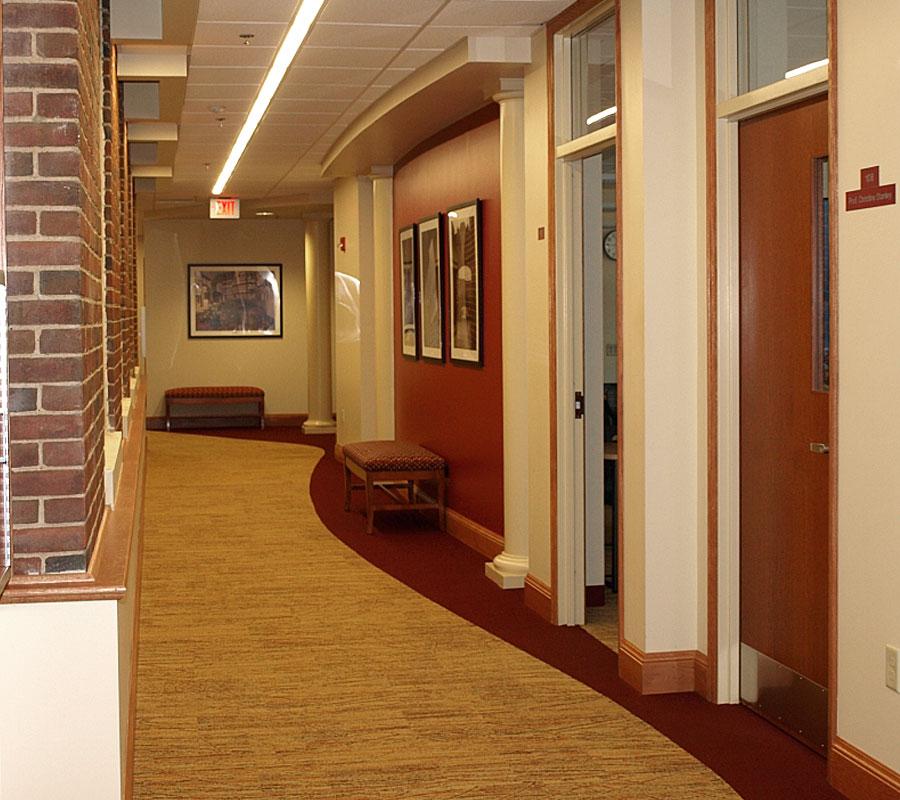 Lucas hall main corridor roanoke college