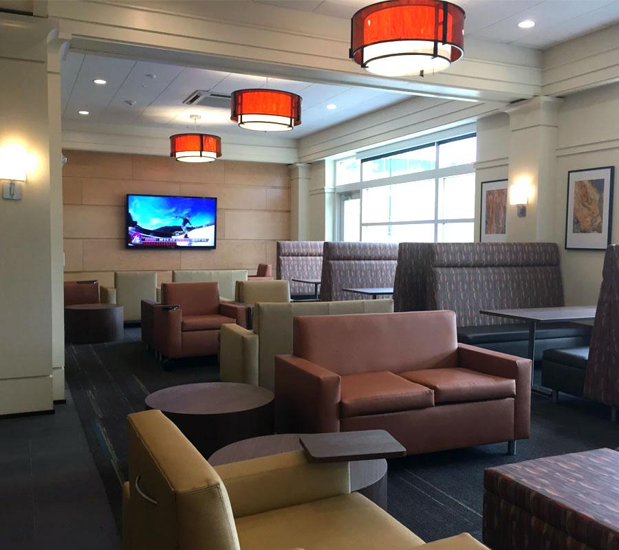 Liberty University dorm lobby2