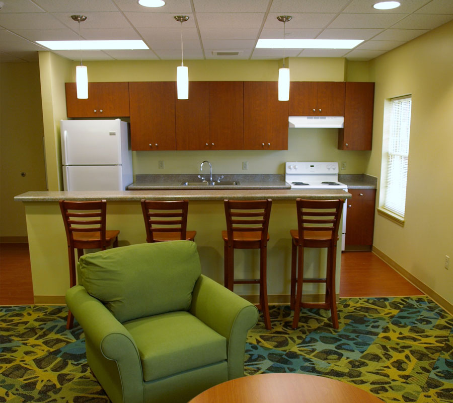 New Residence Hall Roanoke College kitchen lounge