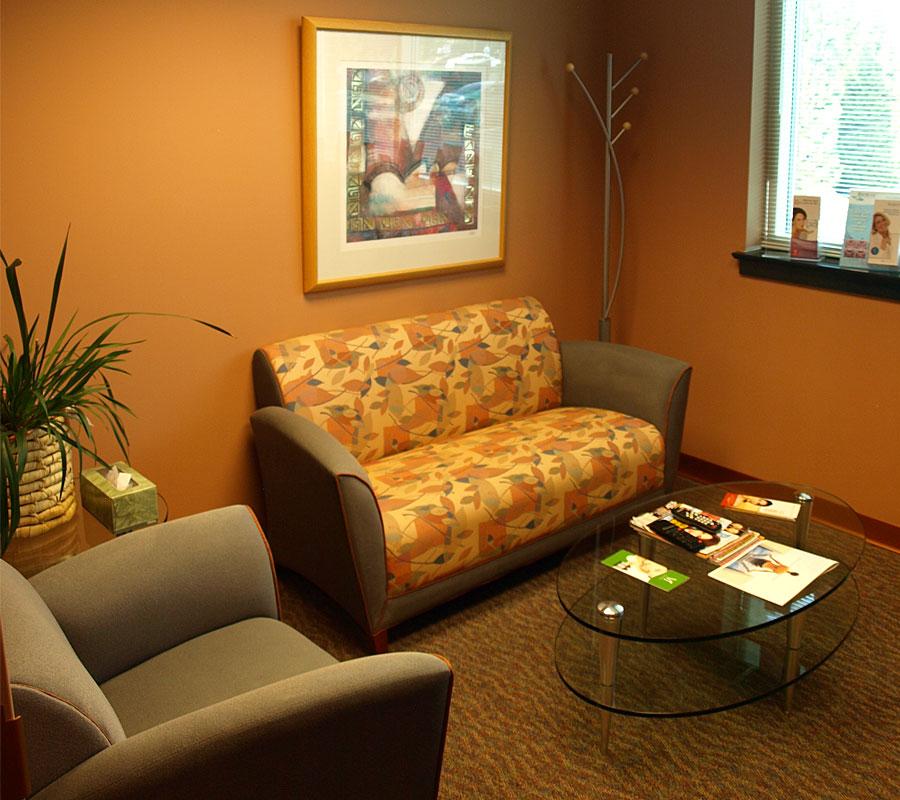 Center Plastic Surgery Salem VA waiting room
