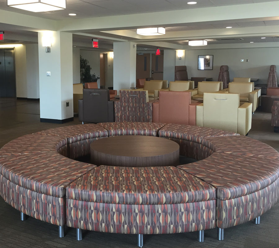 Liberty University dorm lobby3