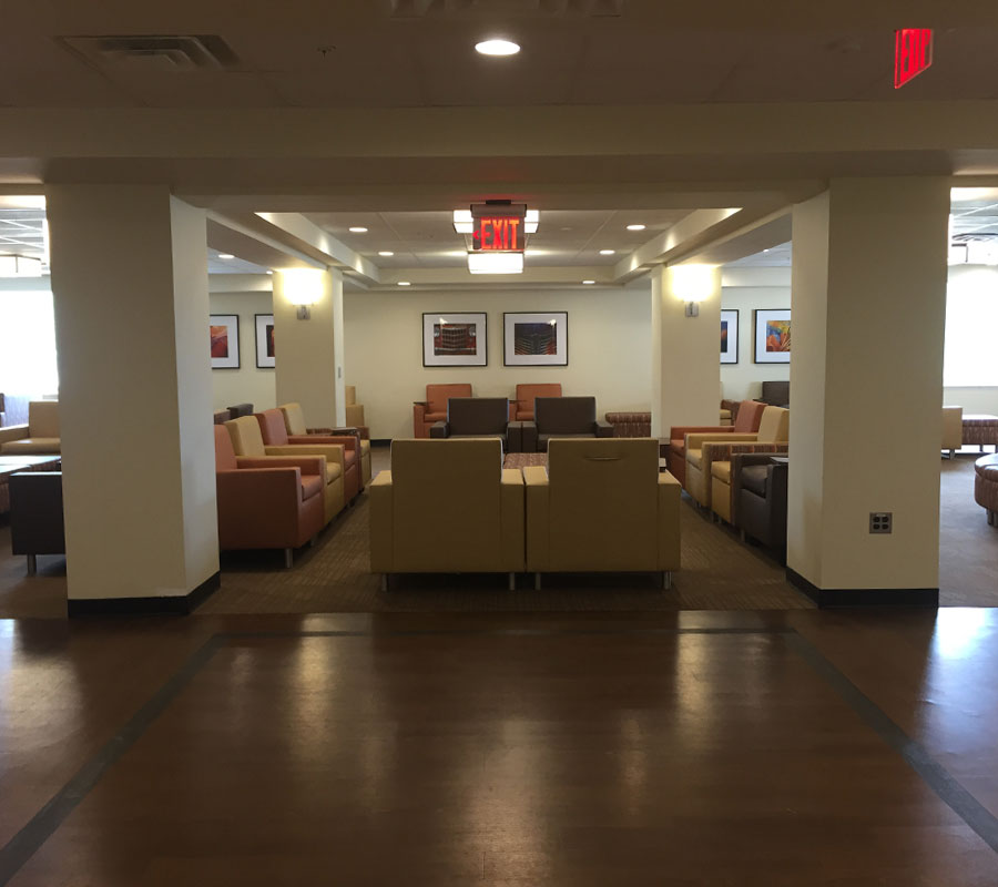 Liberty University dorm lobby4