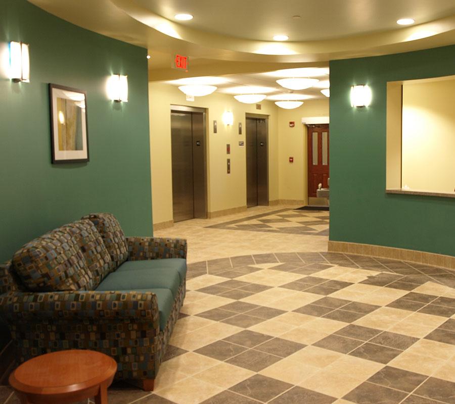 New Residence Hall Roanoke College hallway