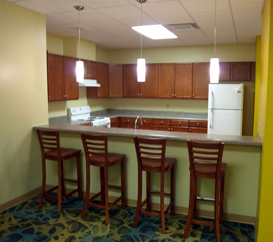 New Residence Hall Roanoke College kitchen