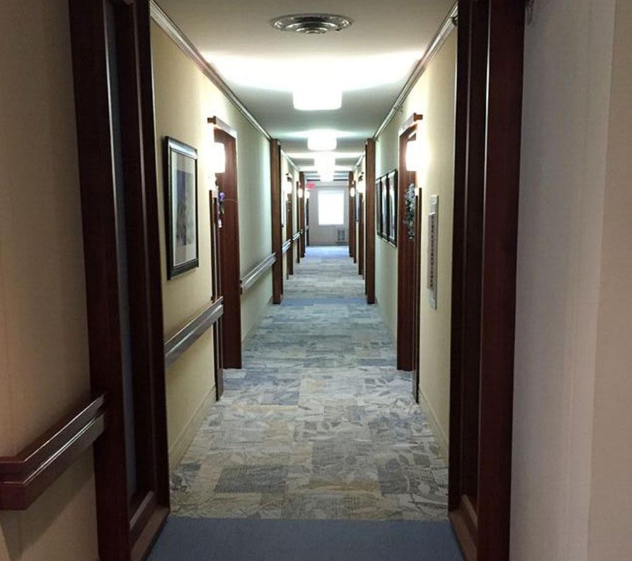 Showalter warm hearth village hallway