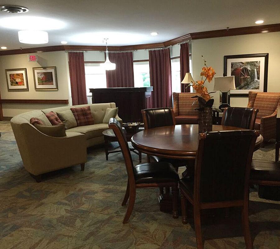 Showalter warm hearth village lounge