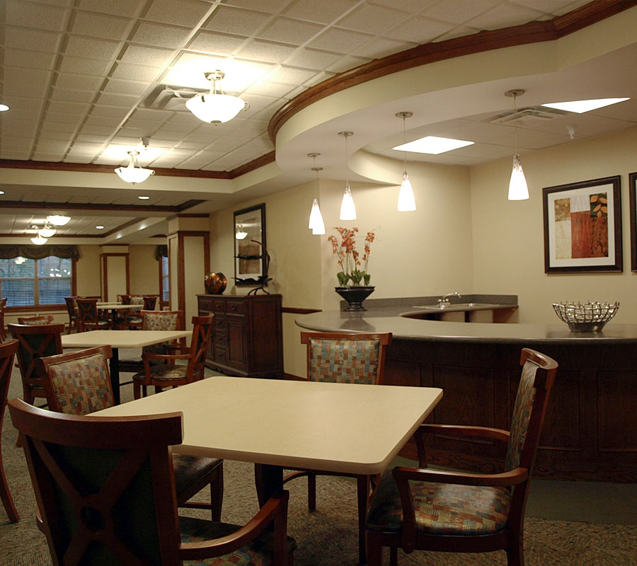 University Park Assisted living dining