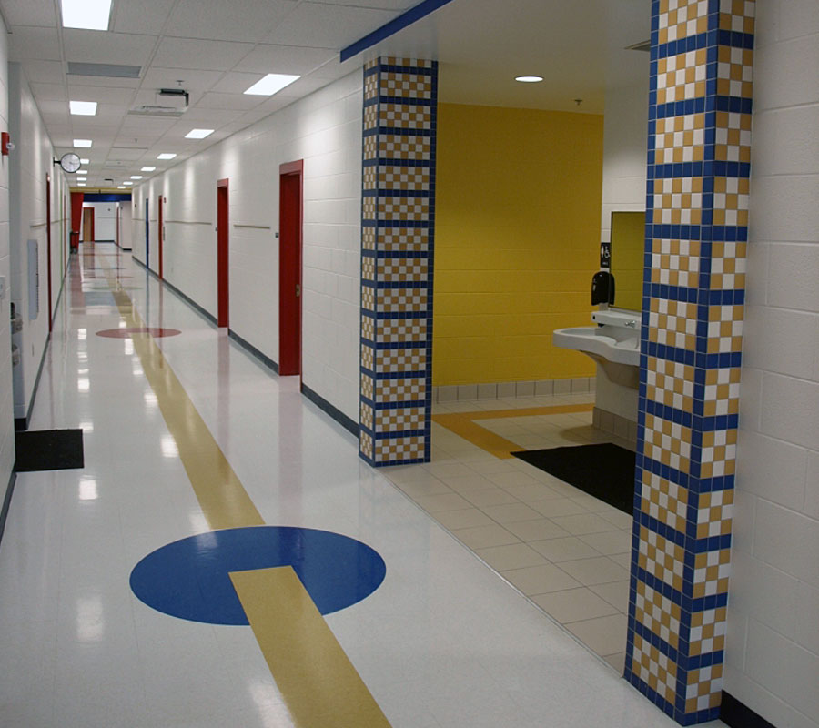 Riverlawn elementary radford hallway
