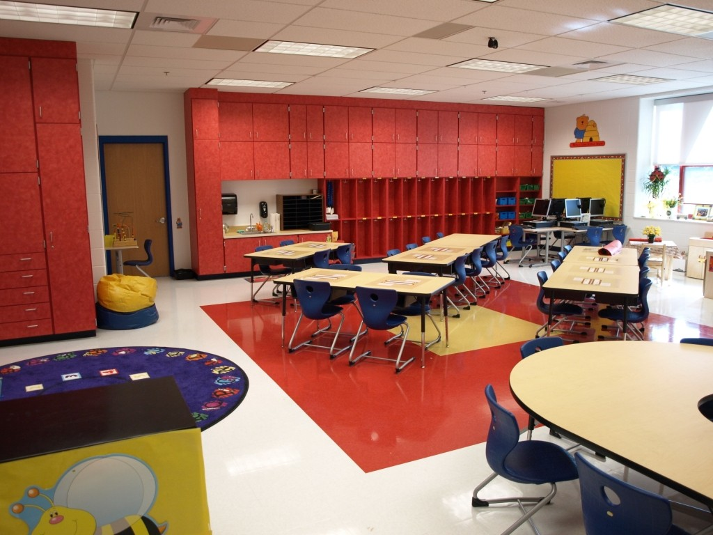 Riverlawn Elementary school classroom